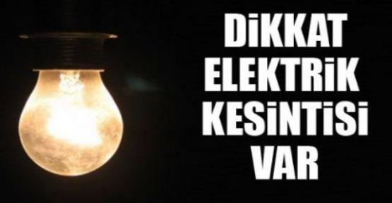 4 ilçede elektrikler kesilecek!