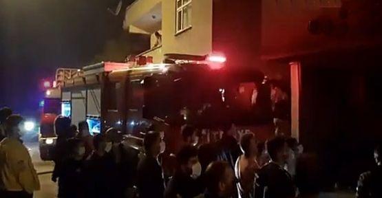 5 katlı binada çıkan yangın mahalleliyi sokağa döktü !