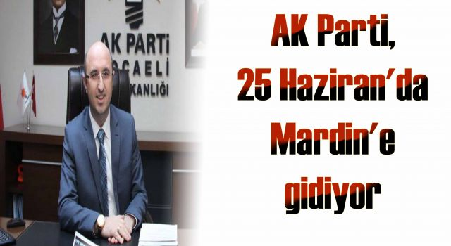 AK Parti, 25 Haziran'da Mardin'e gidiyor