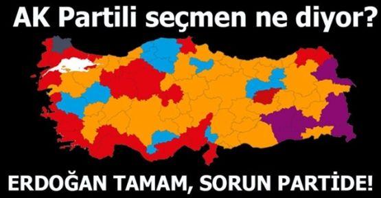 AK Partili seçmen diyor ki! Erdoğan tamam, sorun partide!