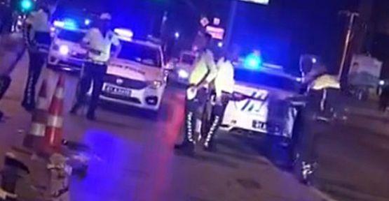 Alkollü sürücü kontrol noktasına daldı; 1'i polis 3 kişi  yaralandı!