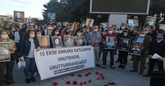 Ankara katliamında hayatını kaybedenler Gebze'de anıldı!