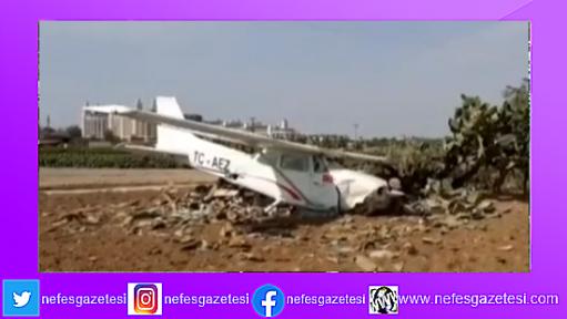 Antalya'nın Manavgat ilçesinde sivil eğitim uçağı düştü