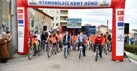 Başkan Çiftçi, vatandaşlarla pedal çevirdi