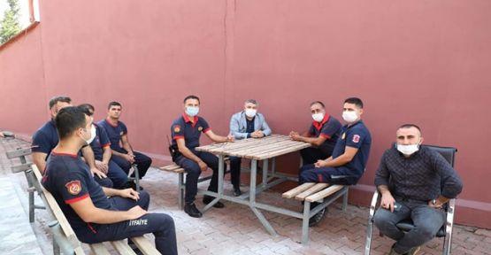 Başkan Şayir'den itfaiye personeline ziyaret!
