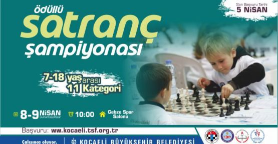 Büyükşehir'in ödüllü Satranç Şampiyonası başlıyor