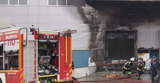 Cam fabrikasında çıkan yangın söndürüldü!