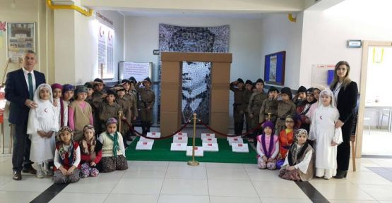 Çayırova Güzeltepe İlkokulu Çanakkale Zaferini kutladı