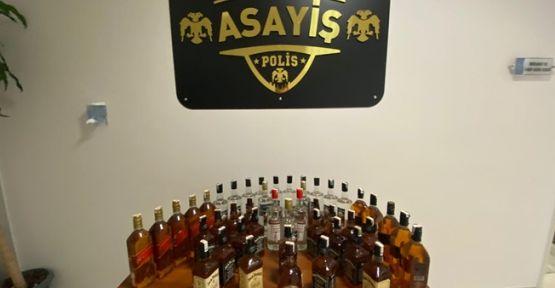 Çayırova'da sahte içki operasyonu:Tam 45 şişe !