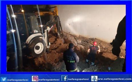 Çayırova'da toprak kayması sonucu 1 kişi öldü