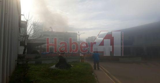 Çayırova'daki Cam Elyaf Fabrikası'nda Yangın Çıktı !