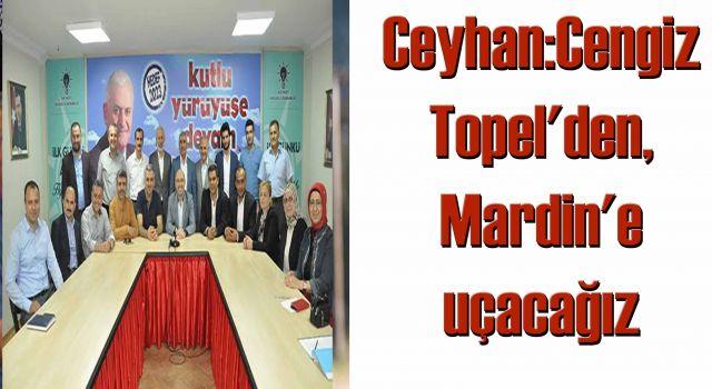 Ceyhan:Cengiz Topel'den, Mardin'e uçacağız