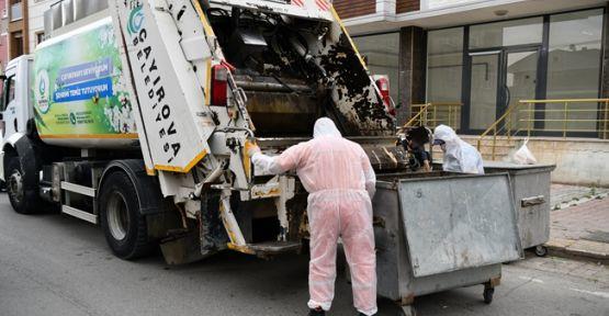 Çöp konteynırları yerinde yıkanıyor