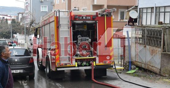 Darıca'daki yangında 2 kişi hastanelik oldu