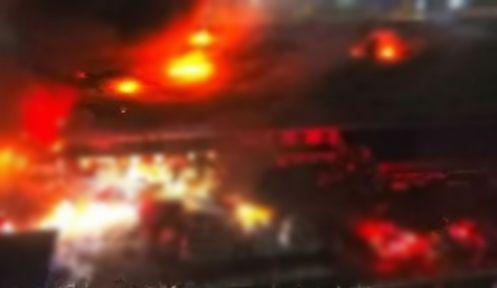 Düzce'de dev fabrika yanıyor