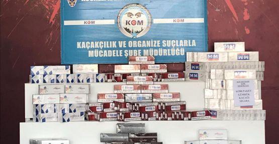 Emniyet'in Durdurduğu TIR'da 61 bin 500 Paket Kaçak Sigara Yakalandı