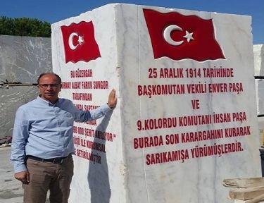 ERMAŞ MERMER'den  Sarıkamış'a Anıt mermer