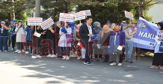 Flormar'da işçi eylemi