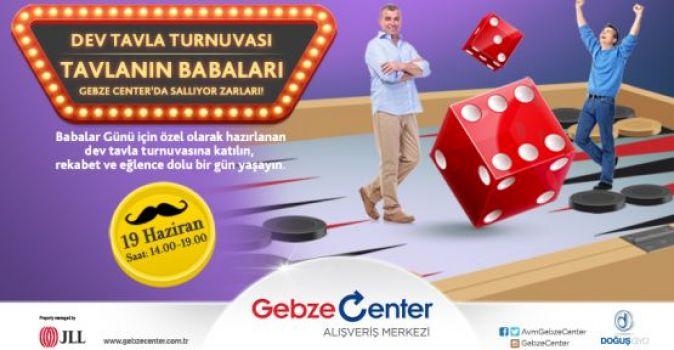 GEBZE CENTER'dan tavla turnuvası