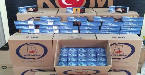 Gebze'de 150 bin dal kaçak makaron yakalandı