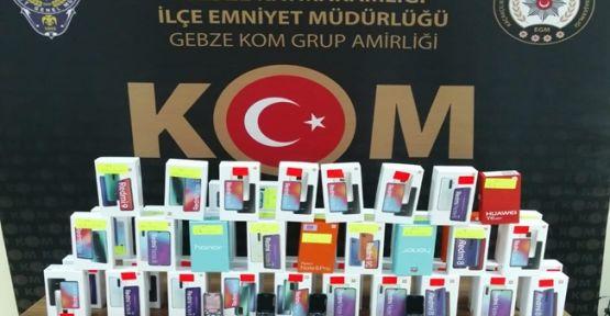 Gebze'de 51 adet kaçak cep telefonu yakalandı!