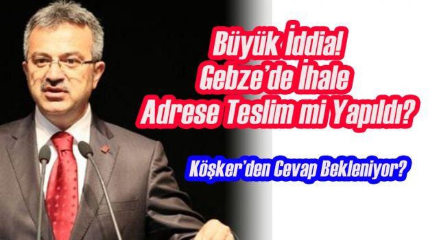 Gebze'de Adrese Teslim İhale Şartnamesi İddiası!