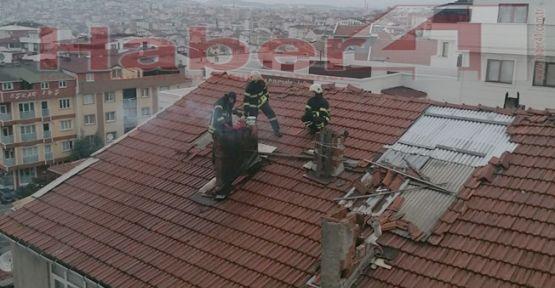 Gebze'de baca yangını korkuttu!