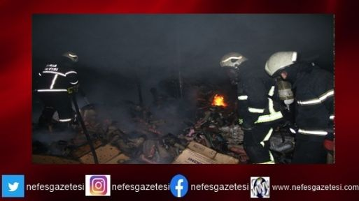 Gebze'de fabrika ve depo yangını