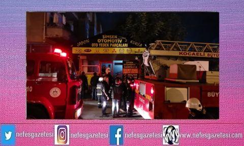 Gebze'de iş yerinde çıkan yangın korkuttu