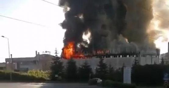 Gebze'de perde fabrikasında çıkan yangın söndürüldü