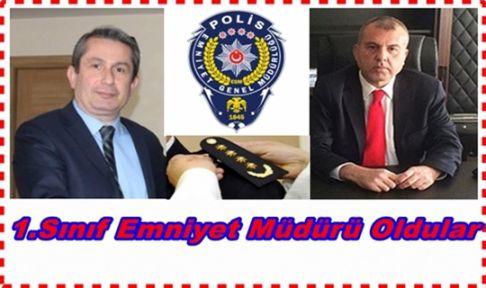 Gebze'nin eski Emniyet Müdürleri rütbe aldı