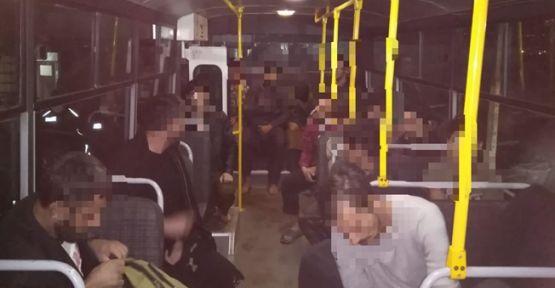 Geri dönüşüm atölyesinde 12 kaçak göçmen yakalandı