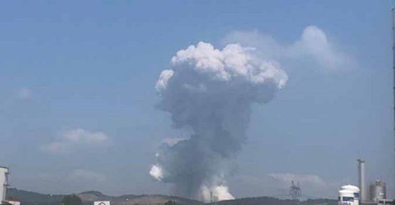 Havai fişek fabrikasında şiddetli patlama meydana geldi