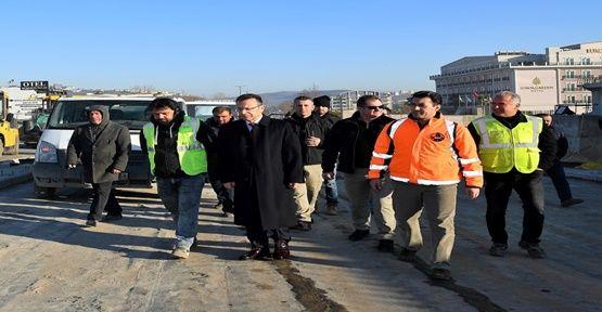 Hüseyin Aksoy Köprülü Kavşak'ta İncelemeler'de Bulundu !