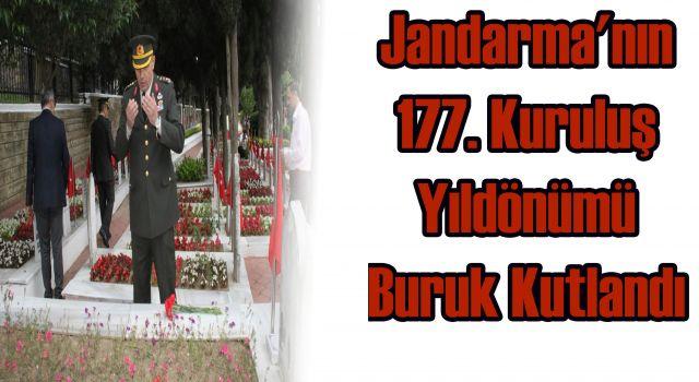 Jandarma'nın 177. Kuruluş Yıldönümü Buruk Kutlandı