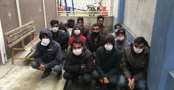Kaçak göçmenler otobüste yakalandı!