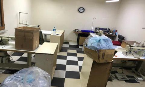 Kaçak üretilen 8 bin maske ele geçirildi