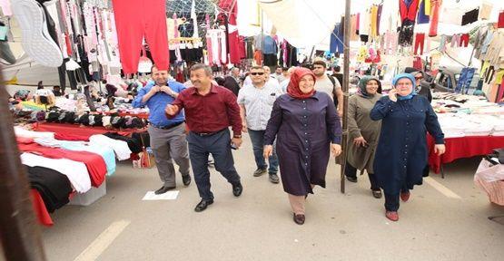 Karabacak çarşı pazar dolaştı!