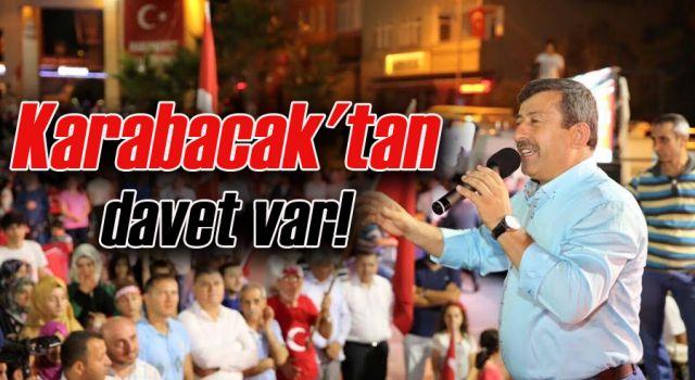 Karabacak'ten davet var!