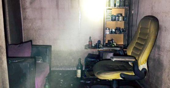 Karamürsel'de iş yeri yangını