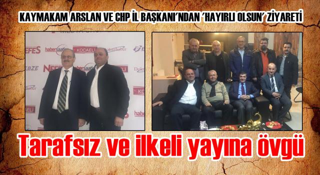 Kaymakam Arslan ve CHP İl Başkanı'ndan 'Hayırlı Olsun' Ziyareti