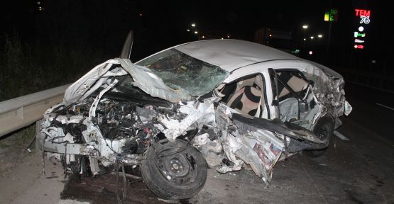 Kaza yapan otomobilin hız göstergesi 200'de takılı kaldı
