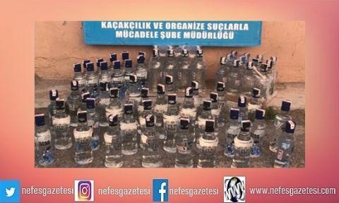 Kocaeli'de 170 şişe kaçak içki ele geçirildi