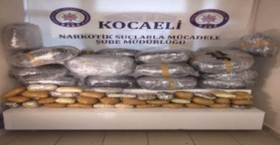 Kocaeli'de 46 Kilo eroin ele geçirildi