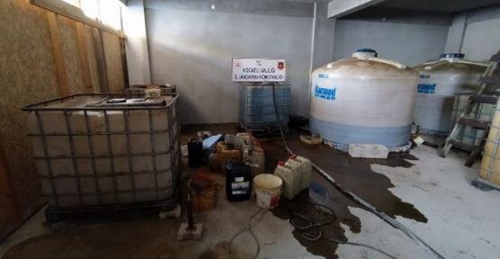 Kocaeli'de binlerce litre kaçak akaryakıt yakalandı!