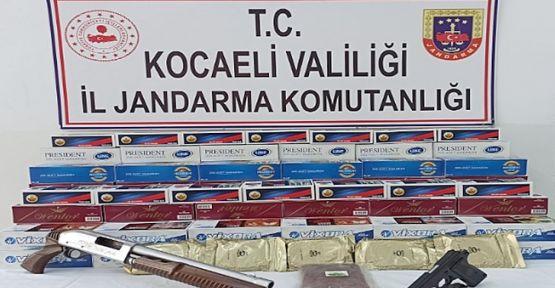 Kocaeli'de binlerce makaron ele geçirildi!