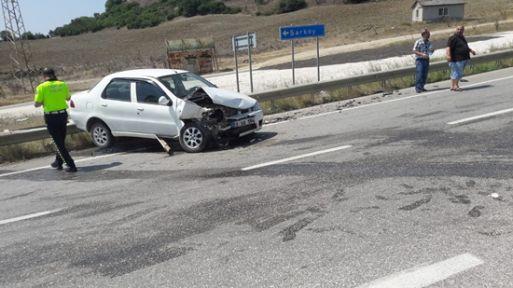 Kocaeli'de görevli polis Tekirdağ'da kaza yaptı