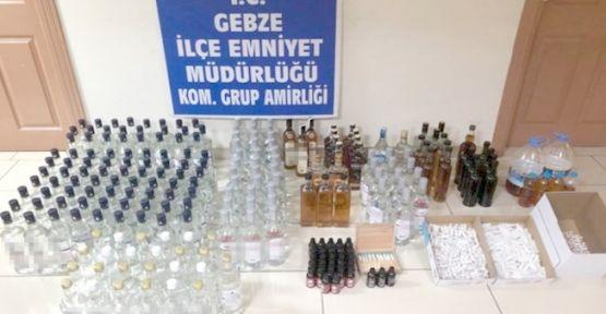 Kocaeli'de Kaçak İçki Operasyonu !