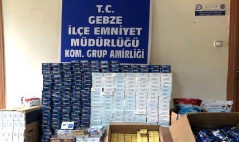 Kocaeli'de kaçak sigara operasyonu:22 gözaltı