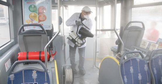 Kocaeli'de otobüsler nano teknolojiyle temizleniyor